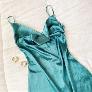 Vintage Satin Slip Mini Dress